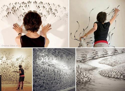 Vẽ tranh bằng những đầu ngón tay với màu acrylic – màu vẽ tranh thay cho màu nước, màu dầu