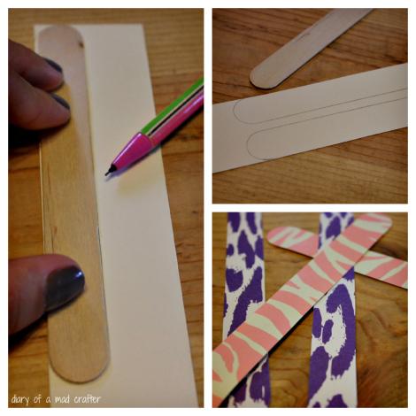 Cắt giấy trang trí vòng tay handmade từ que kem, que đè lưỡi