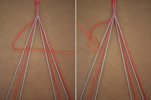 Tết thắt nút với 2 dây đầu tiên