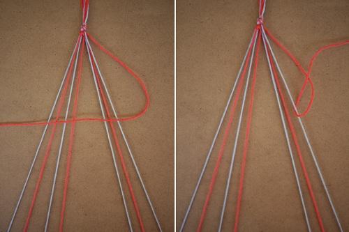 Cách làm vòng tay đơn giản tương tự với bên phải
