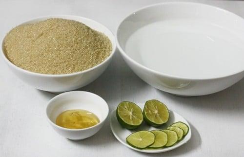 Nguyên liệu làm nước đường rất dễ kiếm
