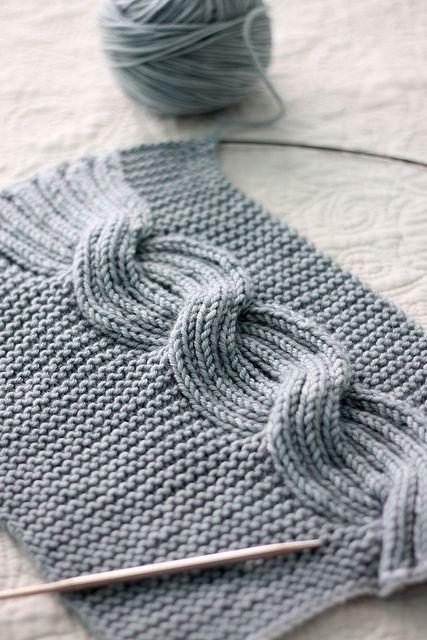 Đan vặn thừng - có thể đan khăn hoặc đan áo đều đẹp