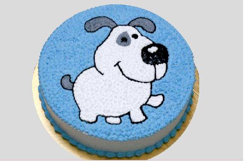 Bánh sinh nhật hình con chó đáng yêu quá đi!