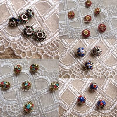 Hạt chạm khắc sơn màu cho vòng đeo tay pandora nổi bật và phong cách