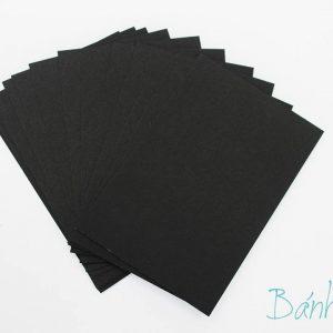 Giấy bìa xi măng màu đen 10x14cm (5 tờ)