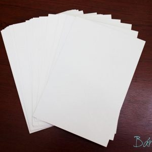 Giấy bìa xi măng trắng 10x14cm (5 tờ)