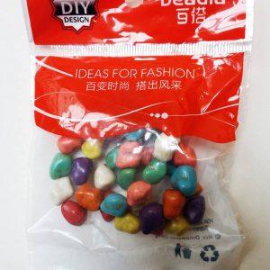 Hạt đá thô nhiều màu (túi 32 viên)