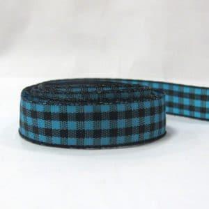 Ruy băng caro 1.2cm (1m) - xanh ngọc đen