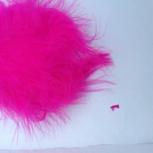 Lông vũ (túi) - hồng đậm