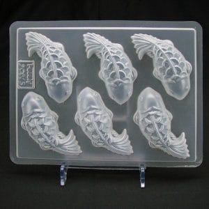 Khuôn nhựa 6 ô bánh trung thu hình cá