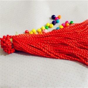 Dây dù xoắn 18cm màu đỏ
