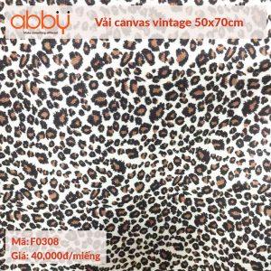 Vải canvas vintage 50x70cm