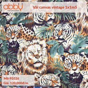 Vải canvas vintage 1x1m5