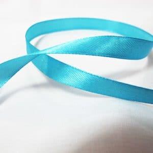 Ruy băng lụa 1cm - xanh