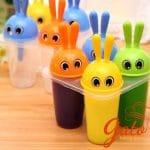 Khuôn kem 4 ô hình thỏ tai tròn