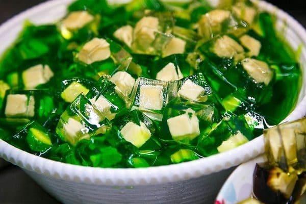 Thạch rau câu trà xanh mát lạnh