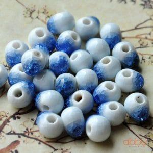 Hạt đá nứt 10mm màu xanh biển