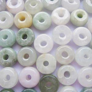 Hạt đá trắng hình tròn có lỗ