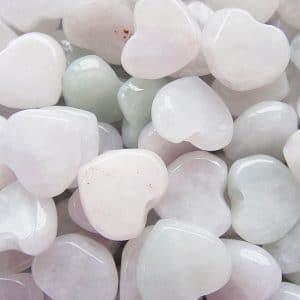 Hạt đá trắng hình trái tim