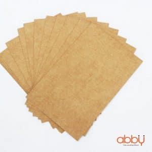 Giấy bìa xi măng nâu nhạt 10x14cm (5 tờ)