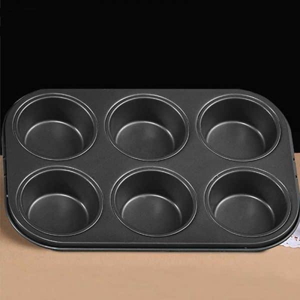Khay nướng cupcake chống dính 6 ô to