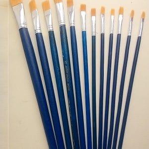 Bộ cọ vẽ 12 chiếc cán xanh