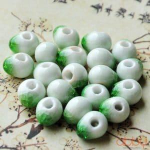 Hạt đá nứt 10mm màu xanh lá