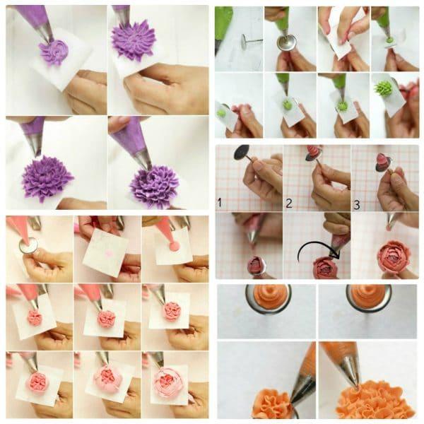 Một số kiểu bắt hoa 3D