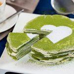 Bánh crepe trà xanh ngàn lớp khiến người mê mẩn