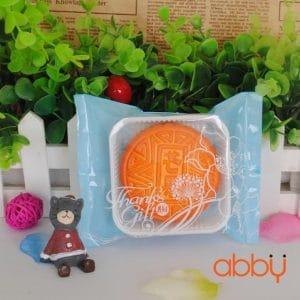 Bộ túi và khay đựng bánh 125g - 150g thanks gift xanh (12 chiếc)