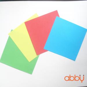 Giấy origami trơn màu khổ 15x15cm (72 tờ)