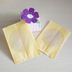 Bộ túi và khay đựng bánh 75g Just for you (12 chiếc)