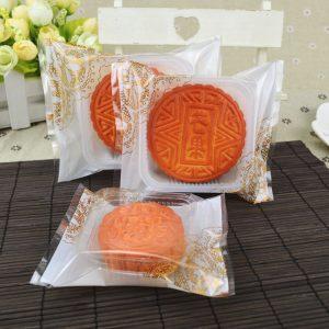 Bộ túi và khay đựng bánh 125g - 150g ren vàng (12 chiếc)
