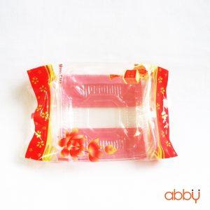 Bộ túi và khay đựng bánh 125g - 150g sen đỏ (100 bộ)
