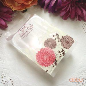 Bộ túi và khay đựng bánh 125g - 150g hoa cúc (12 chiếc)
