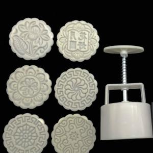 Khuôn Trung Thu lò xo 125g 6 mặt ép truyền thống