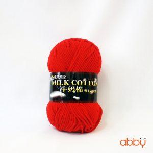 Len cotton milk - màu đỏ - số 10