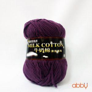 Len cotton milk - màu tím đỏ - số 19