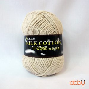 Len cotton milk - màu be - số 4
