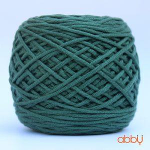 Len cotton bánh - màu xanh lá thông - số 19