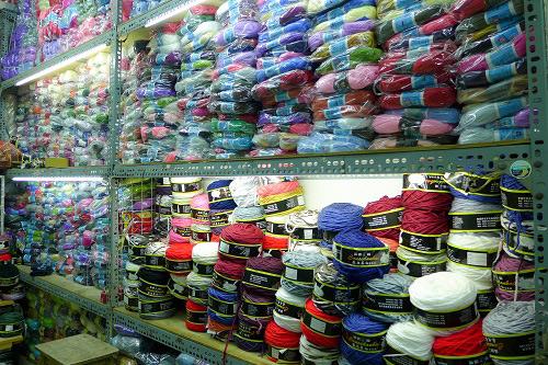 Một góc cửa hàng len ở Đinh Liệt