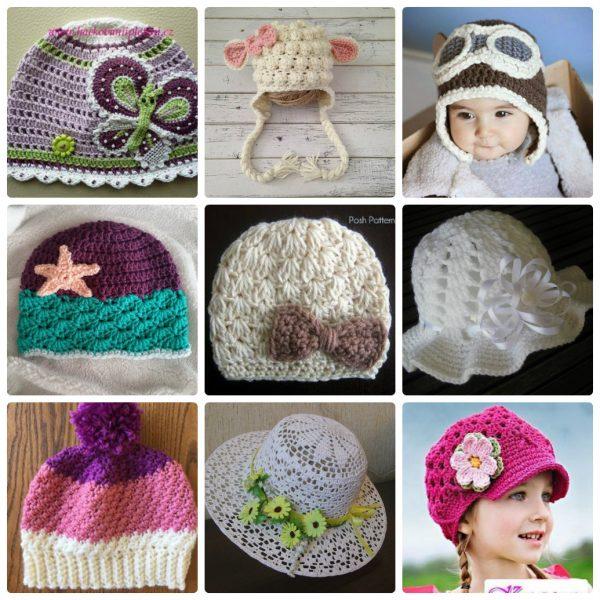 Các kiểu mũ len cho bé