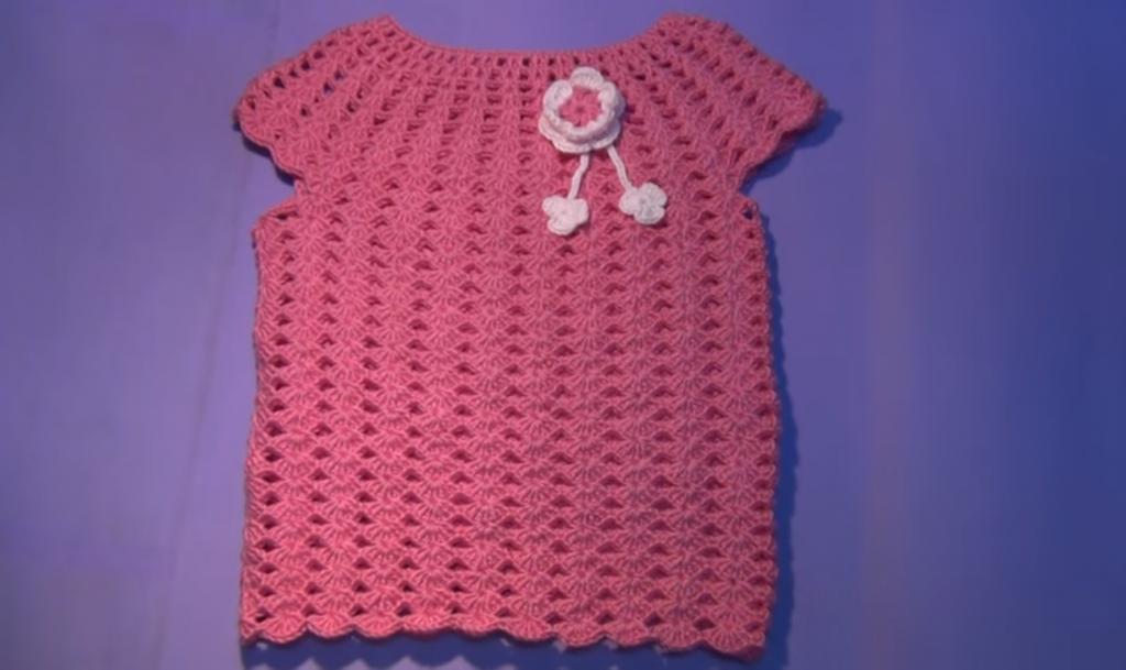 Móc áo len cho bé gái hoàn chỉnh