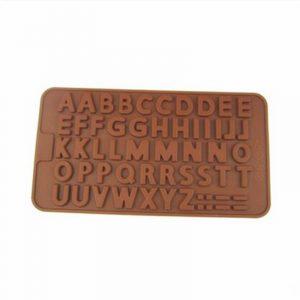 Khuôn silicon bảng chữ cái dẹt 50 viên
