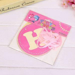 Dây chữ trang trí sinh nhật Happy Birthday màu hồng