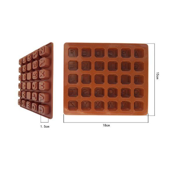 Khuôn silicon bảng chữ cái 30 viên
