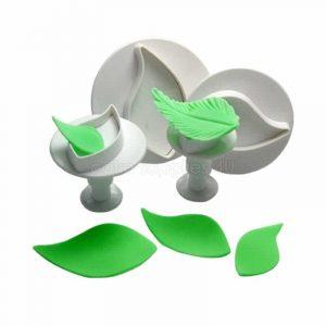 Bộ cutter fondant gum past lá mẫu 3