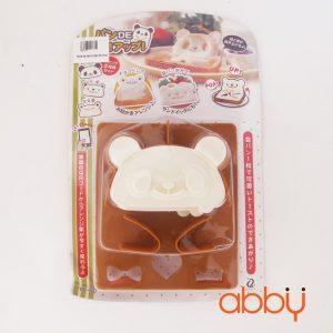 Khuôn ép bánh mì Gấu 3D có tay