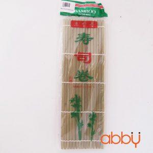 Mành cuộn cơm tre xanh lá lạt dẹt