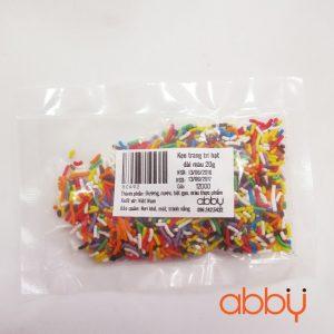 Kẹo trang trí hạt dài màu 20g